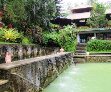 Visit the hot water Baths Air Panas Banjar